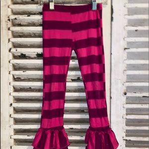 Giggle Moon Stripe Ruffle Party Pants